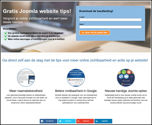 Leadpage download gratis Joomla website tips