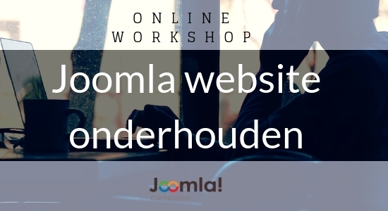Online workshop Joomla website onderhouden
