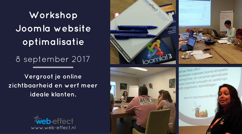 Web-effect workshop joomla website optimalisatie
